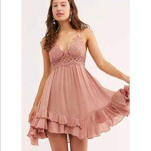 NWT Free People Rose Adella Slip Mini Dress